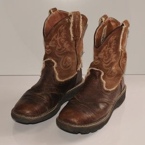 6.5B Womens Ariat Leather Brown Boots